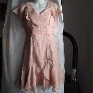 Anthropologie Minuet Blush Pink Dress